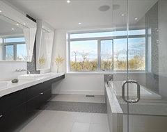 Ensuite contemporary bathroom