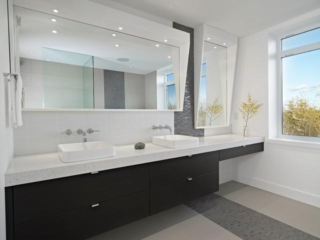 Ensuite contemporary bathroom edmonton by habitat for Bathroom ideas edmonton