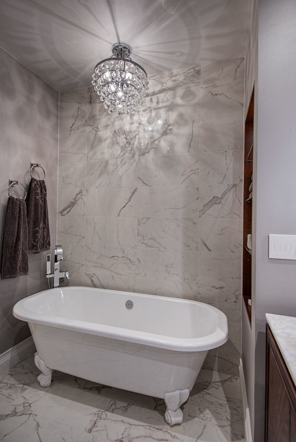 Ensuite Master Bathroom - free standing bath tub - Contemporary - Bathroom - new york - by B R ...