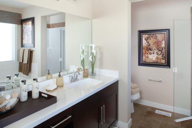 Ensuites master Baths by various Calgary Home Builder contemporary-bathroom