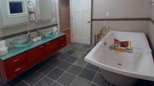 Equestrian Lane Model Home contemporary-bathroom