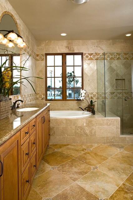Equestrian Villas - Carroza - Mediterranean - Bathroom - Santa Barbara - by Jack 'N Tool Box, Inc.