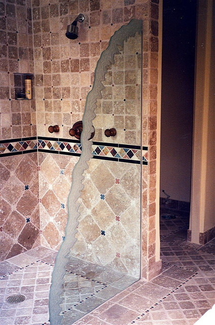 Escalade Glass Shower Partition eclectic-bathroom