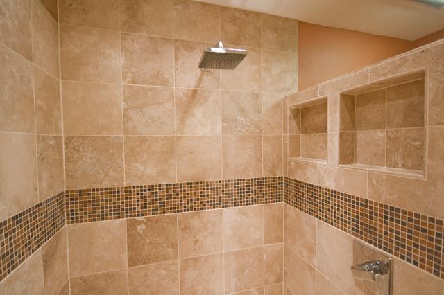 Bathroom Decor And Tiles: Espresso & Cream Bathroom