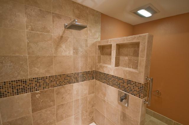 Espresso Amp Cream Bathroom Modern Bathroom Portland