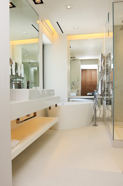 Essex House Penthouse Contemporary Bathroom New York By Aerial Design And Build
