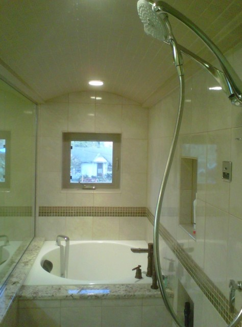 Eugene Steam Shower With Japanese Tub Contemporary Bathroom
