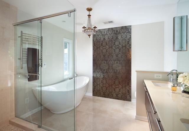 euro chic contemporary bathroom dc metro by anthony wilder design build inc. Black Bedroom Furniture Sets. Home Design Ideas