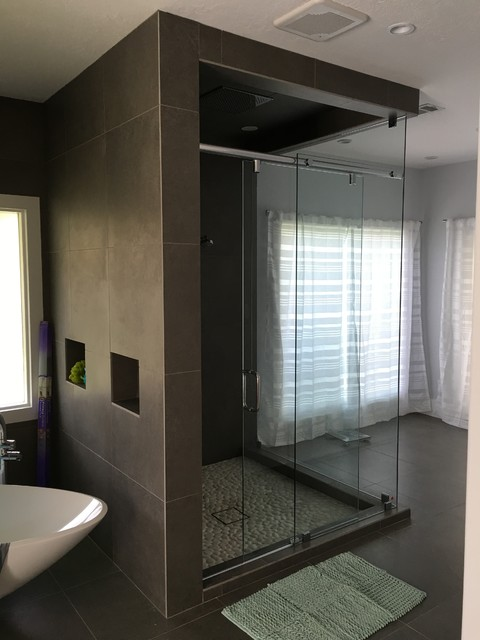 European Modern In Katy Contemporary Bathroom Houston By Melissa Sharp Designer At