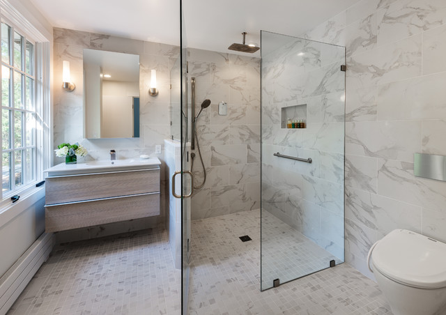 European Wet Room - Contemporary - Bathroom - by Mitchell Construction Group