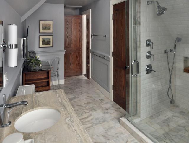 Evanston Historic Single Family Home transitional-bathroom