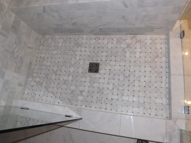 Even Shower Floors Can Be Gorgeous Traditional