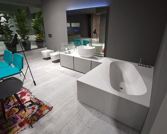Exelen by Antonio Lupi - EXELEN system of bathroom furniture by Antonio Lupi.