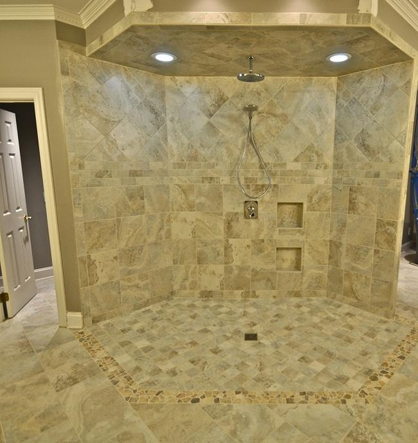 Extravagant Shower Contemporary Bathroom Raleigh