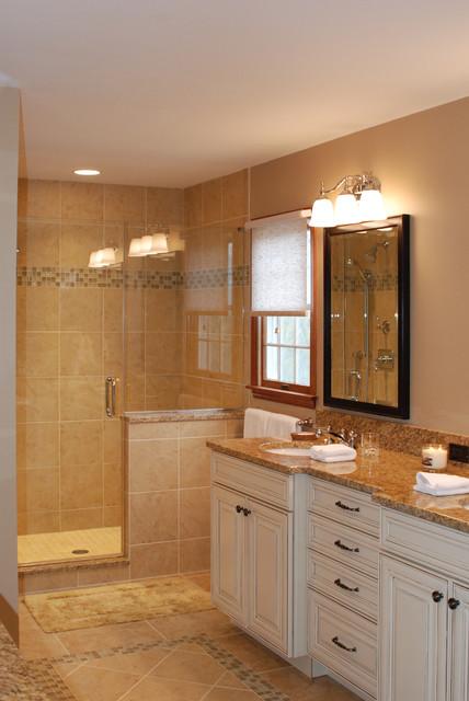 Extremely elegant master bathroom suite traditional for Elegant master bathroom designs