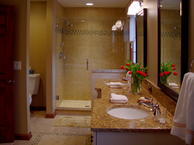 Extremely elegant master bathroom suite traditional for Elegant master bathrooms pictures