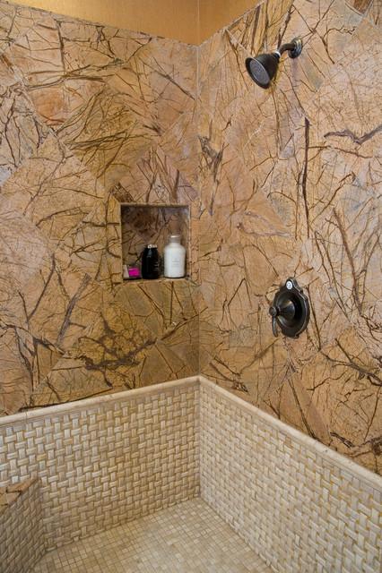 EZ-NICHES Bathroom Shampoo Soap Recess Shelf Wall Niche Caddy traditional-bathroom