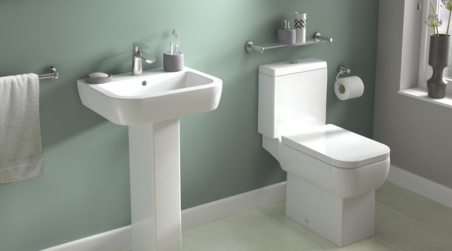 Bathroom Sinks B&Q fabian bathroom suite - contemporary - bathroom - hampshire -b&q