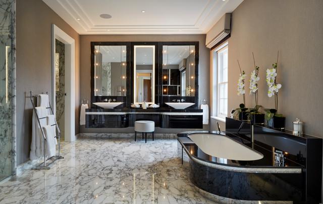 Fairlanes North London Contemporary Bathroom London By Stephen Clasper Interiors
