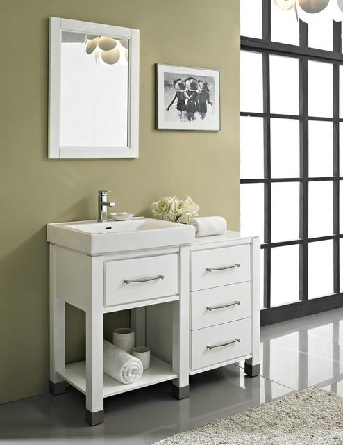 "Fairmont Midtown 44"" Open Shelf Modular Gloss White"