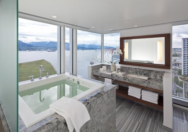 Fairmont Pacific Rim Contemporary Bathroom Vancouver