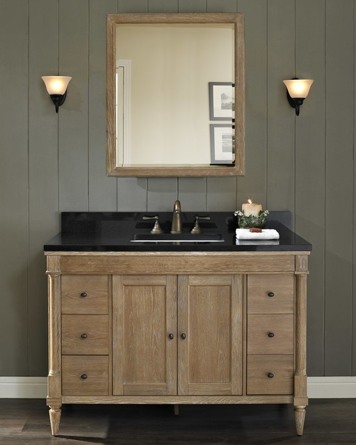 fairmont rustic chic 48 vanity modern bathroom milwaukee by gerhards the kitchen