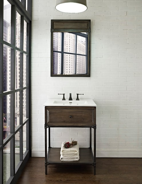 "Fairmont Toledo 24"" Open Shelf Vanity - Modern - Bathroom ..."