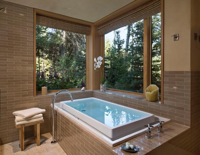 Fall Creek Residence Rustic Bathroom