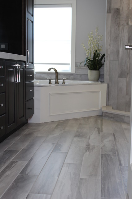 Falling Water Porcelain Tile Collection Modern Bathroom Boston