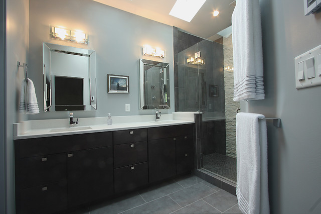Falls Church Va Whole House Remodel Transitional Bathroom Dc Metro By Nvs Remodeling