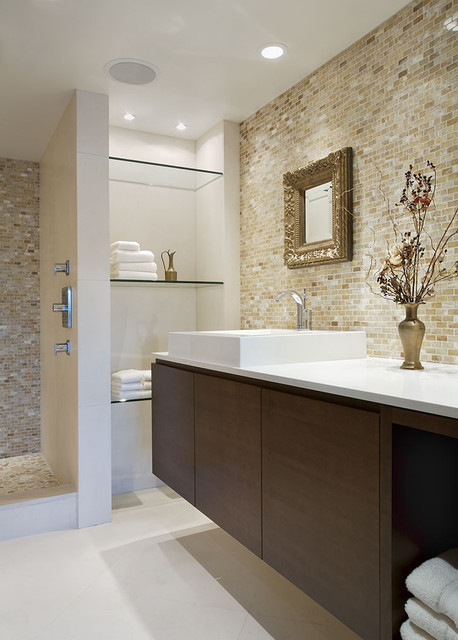 False creek condo contemporary bathroom vancouver for Condo bathroom designs