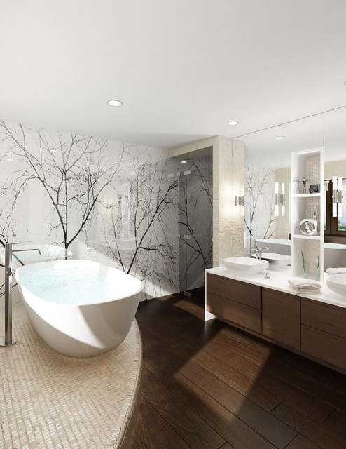 false creek penthouse modern bathroom - Modern Bathrooms Houzz