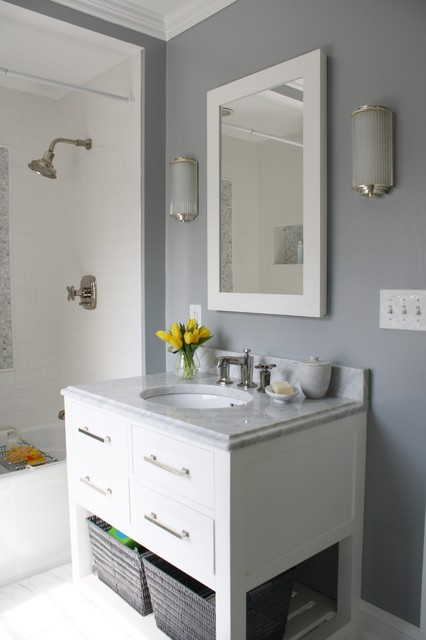 Family Bathroom Contemporary Bathroom Boston By