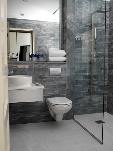 Family home in Foxrock - Contemporary - Bathroom - Dublin ...