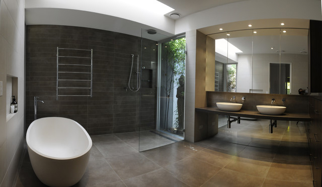 Family Home Melbourne Australia Contemporary Bathroom