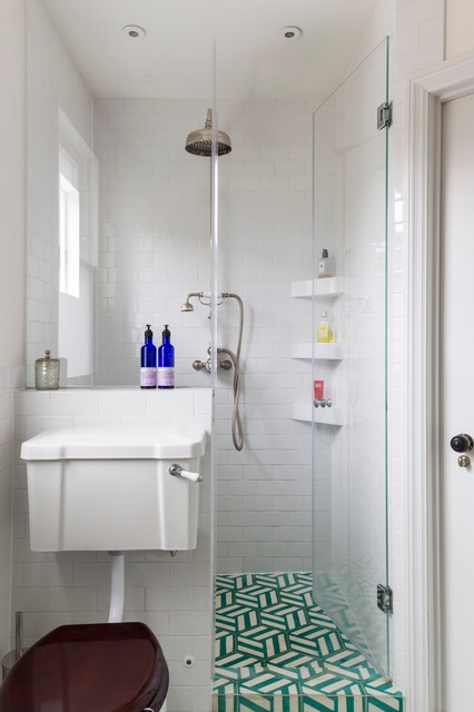 Family House In North London Transitional Bathroom