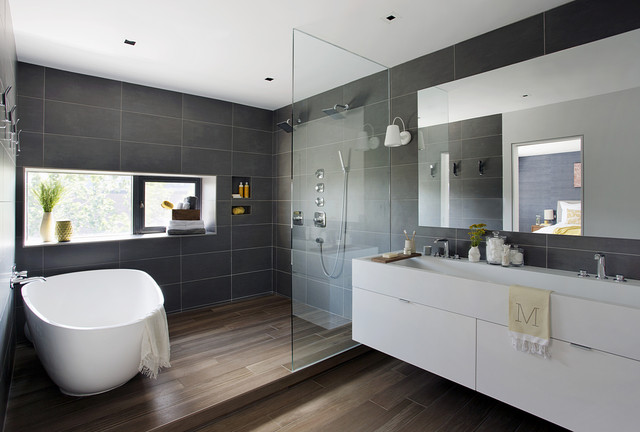 Family Loft contemporary-bathroom
