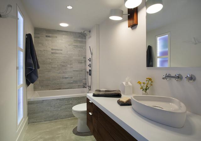 Family Loft Contemporary Bathroom Boston By Zeroenergy Design