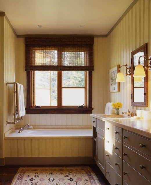 Beadboard Ceiling Bathroom: San Francisco