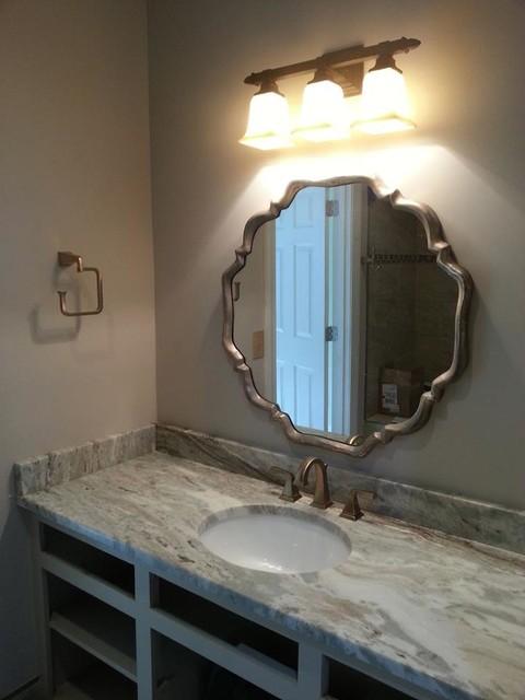 Fantasy Brown Vanity Top Contemporary Bathroom