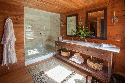Naturally Rustic Bathroom