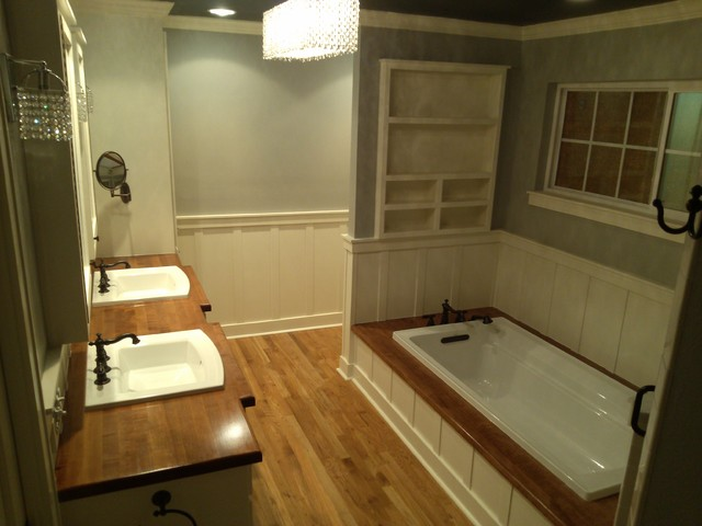 Six Foot Kohler Archer Soaking Tub Farmhouse Bathroom