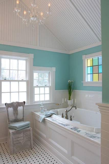 Farmhouse Chic Master Bath Victorian Bathroom
