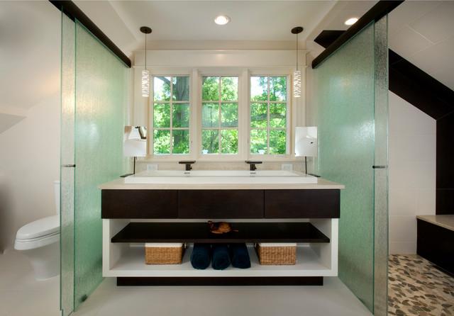 Farmhouse Contemporary contemporary-bathroom