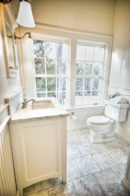 Farmhouse traditional bathroom portland maine by for Bathroom remodel maine