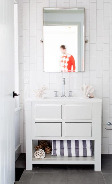 Farmington Door, Nantucket, MA - Greenfield Cabinetry traditional-bathroom