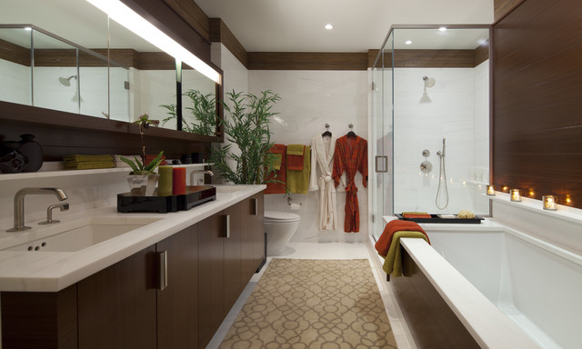 contemporary bathroom by James Rixner, Inc.