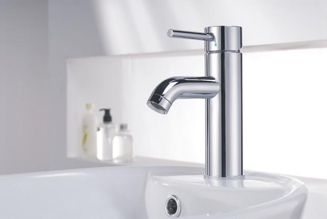Innovative Bathroom With Radiant Heated Floors Dual Sinks High End Fixtures