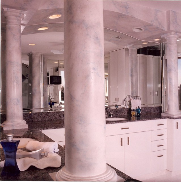 Http Houzz Com Photos 4607519 Faux Finishing Traditional Bathroom Chicago