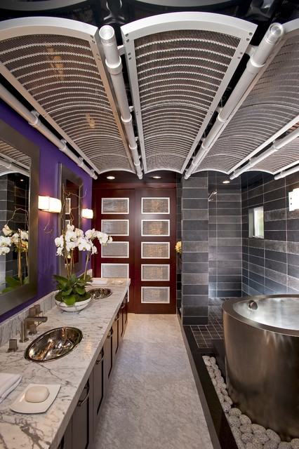 Featured in Gentry Design, Palo Alto Weekly and other publications asian-bathroom